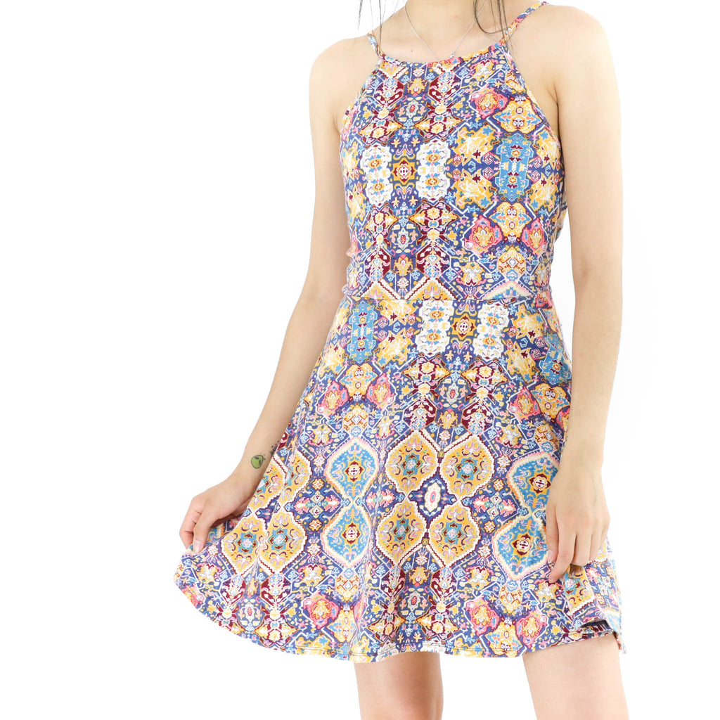 Tiles Sleeveless Dress