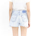 Light Denim Distressed Shorts