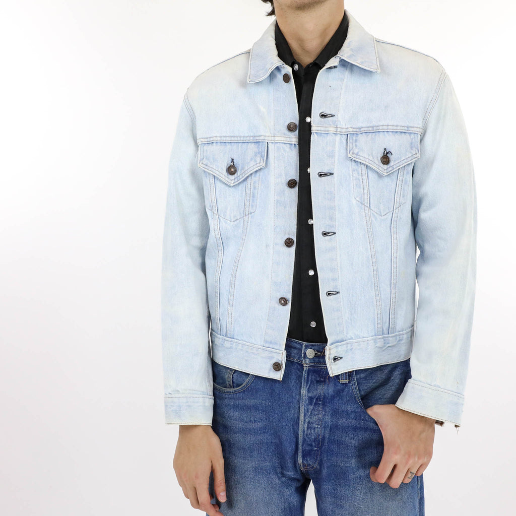 Bleach Resist Peace Dyed Denim Jacket