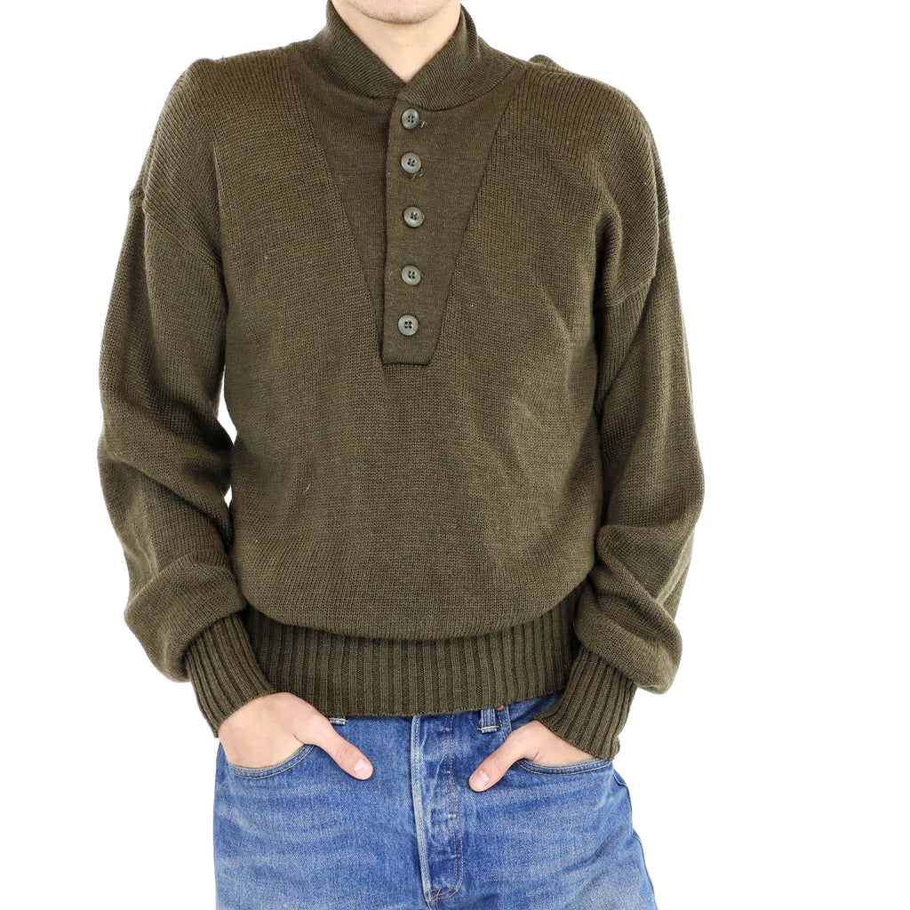 Mock Neck Button Up Sweater