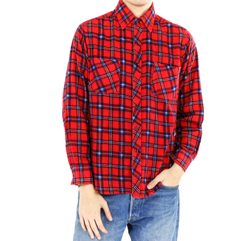 Red and Blue Flannel Shirt