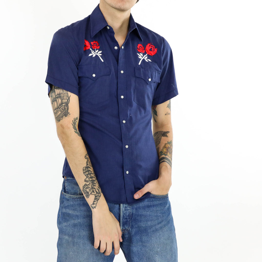 Embroidered Short Sleeve Shirt