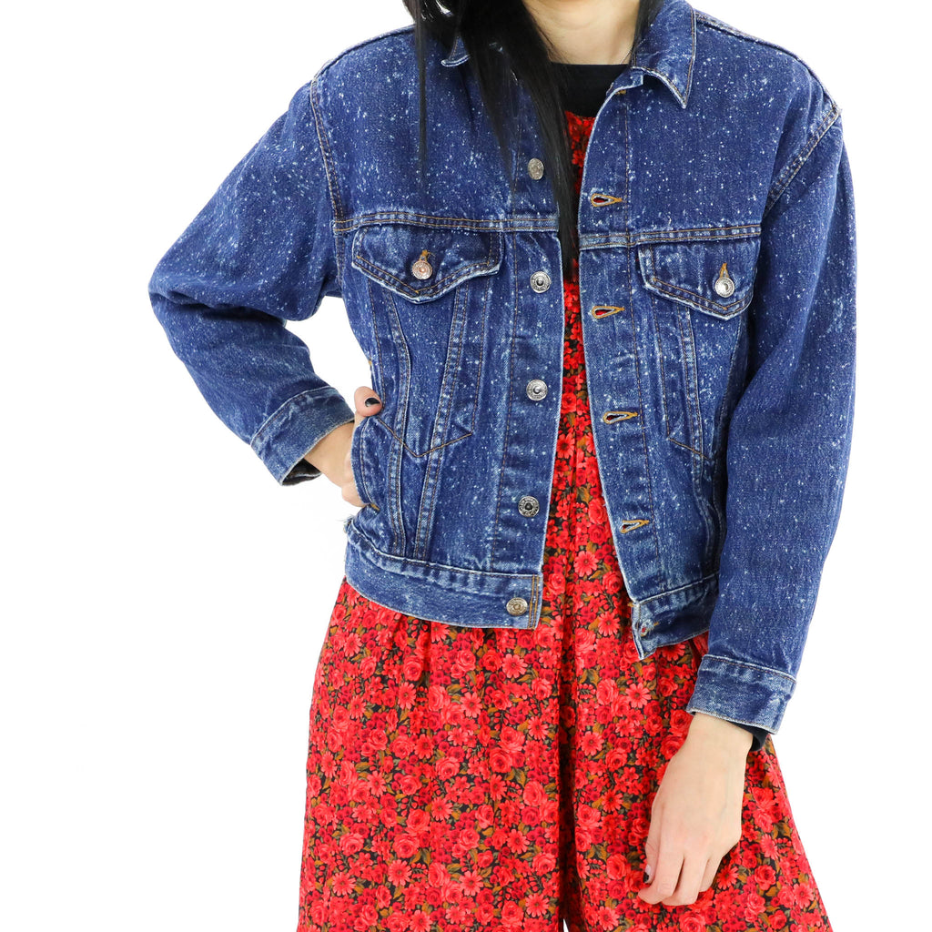 Speckled Denim Jacket