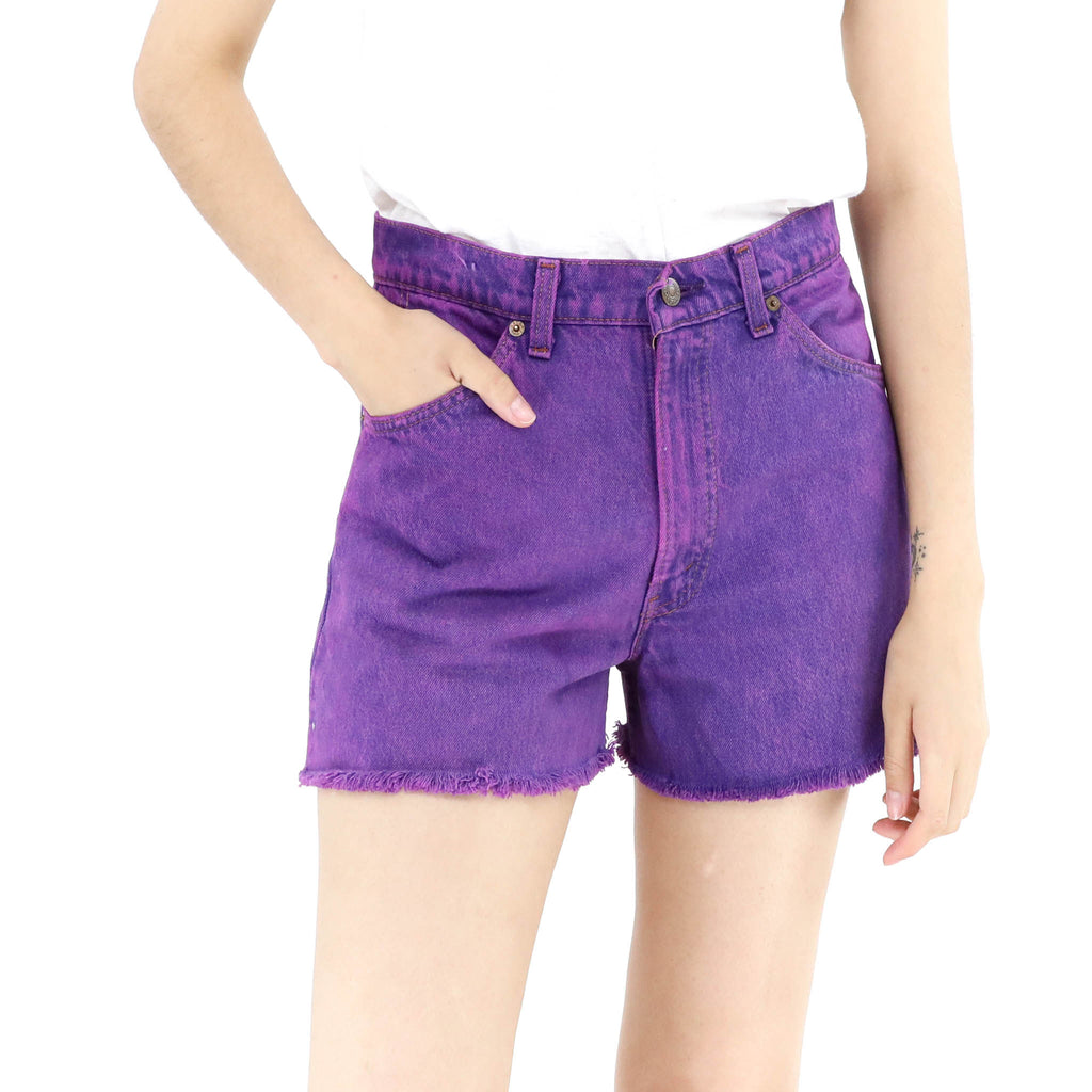 Berry Denim Shorts
