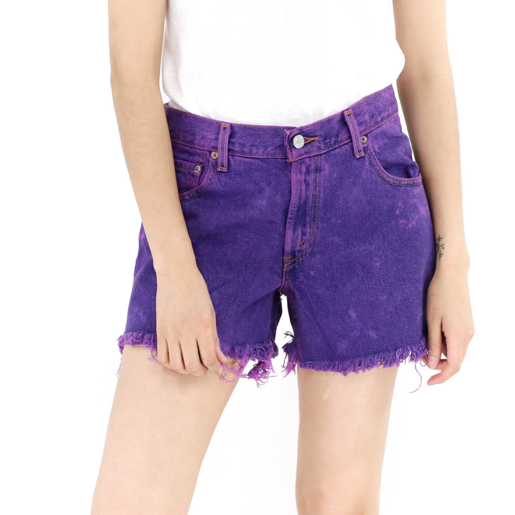 Grape Denim Shorts