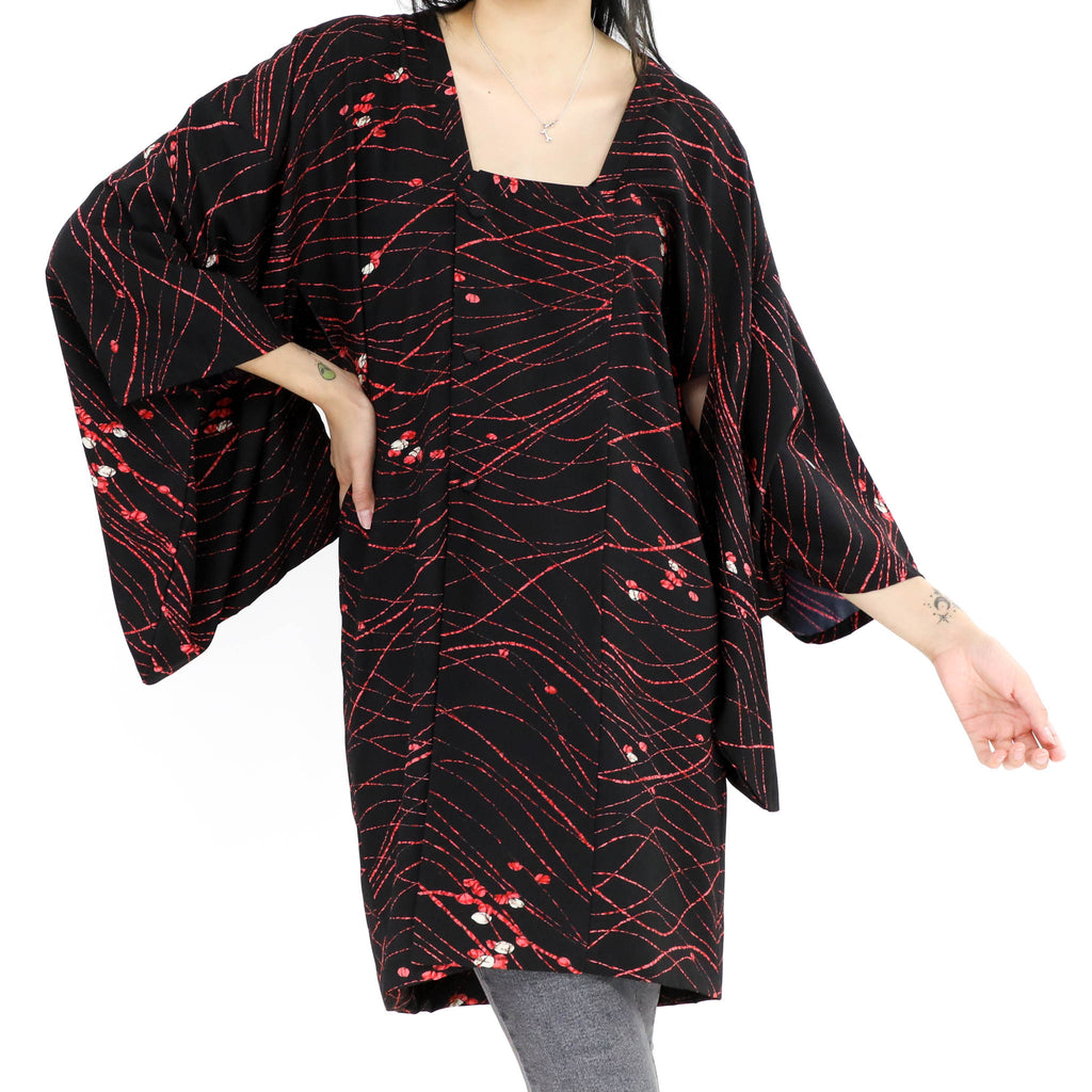 Kimono Dress Red and Black