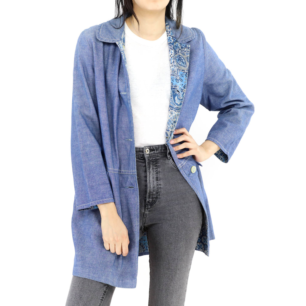 Denim Double Face Cardigan