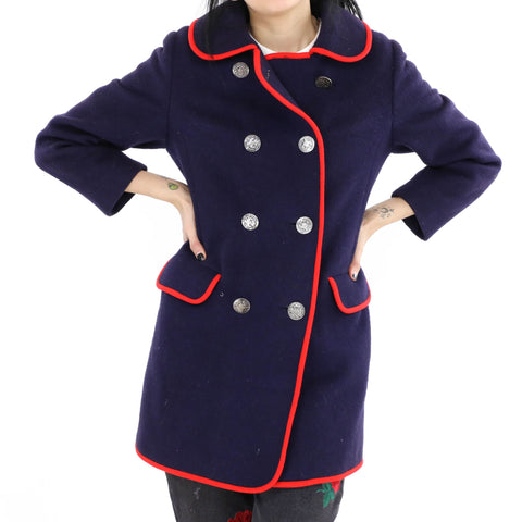 Peacoat with Piping