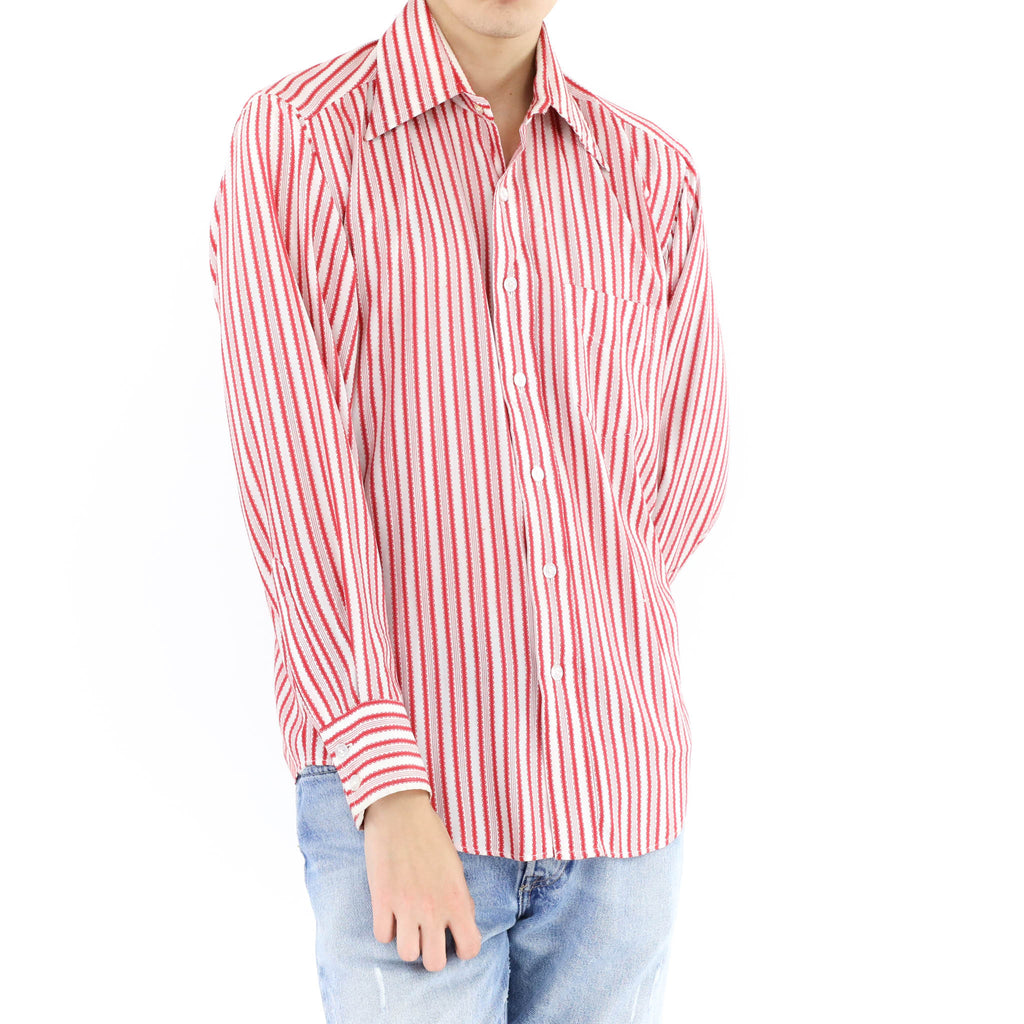 Red and White Pinstripe Shirt