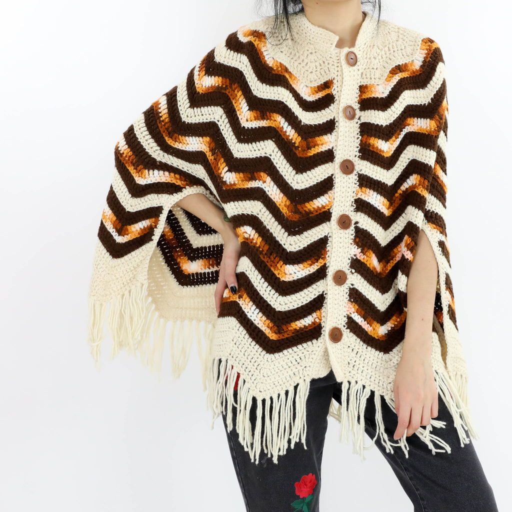 Retro Waves Poncho