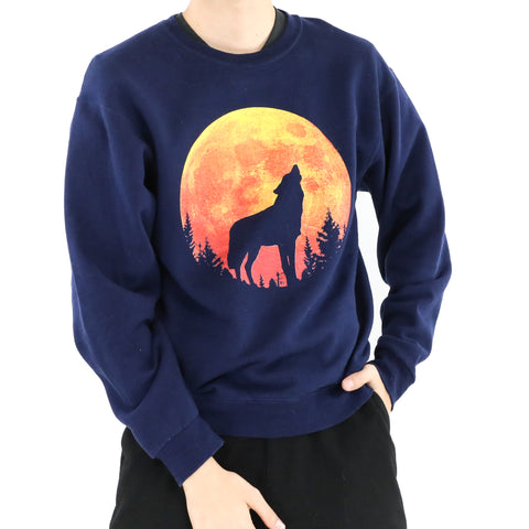 Yellow Moon Wolf Sweatshirt