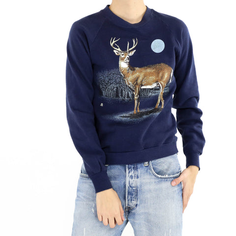 Midnight Blue Deer Sweatshirt