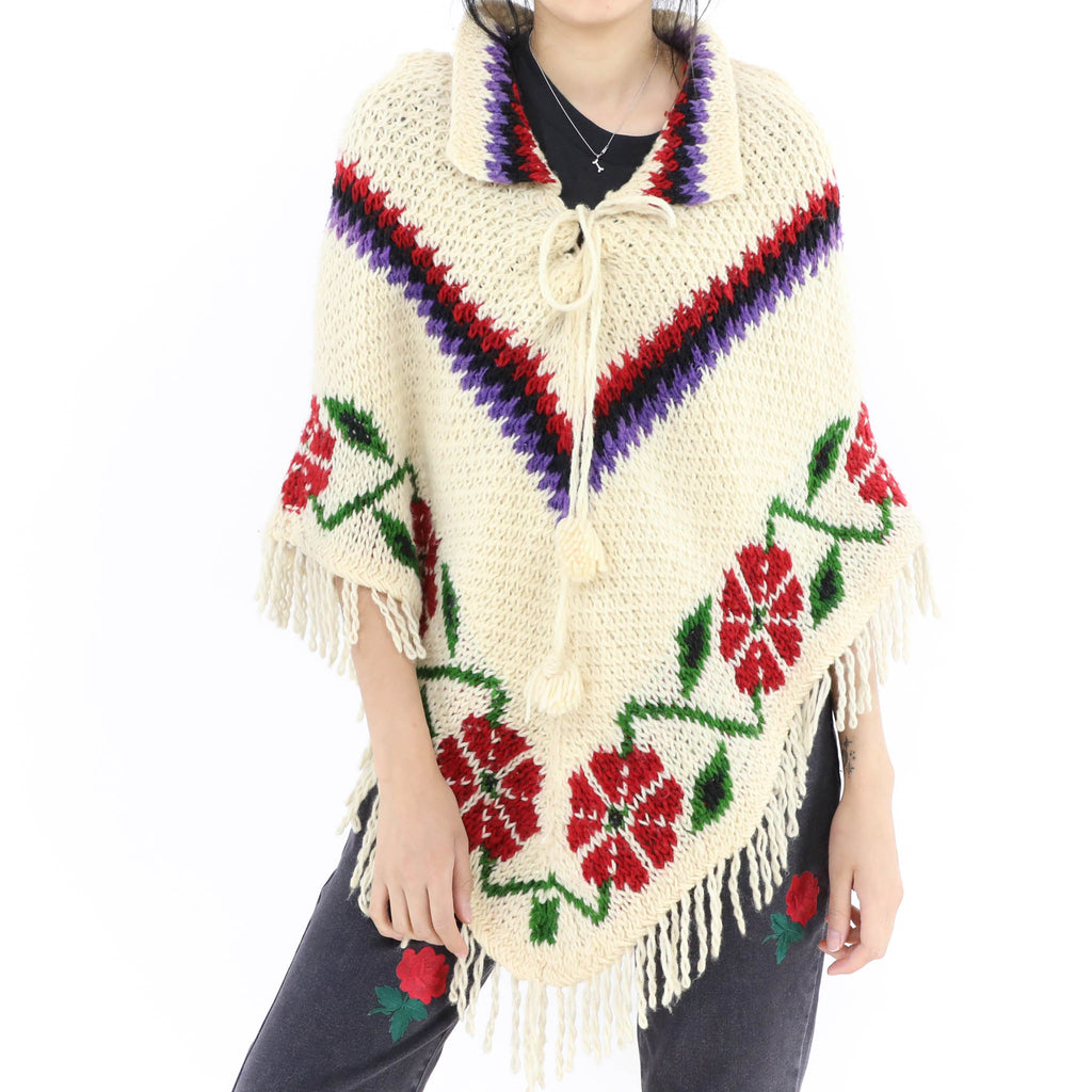 Flower Crochet Pattern Poncho