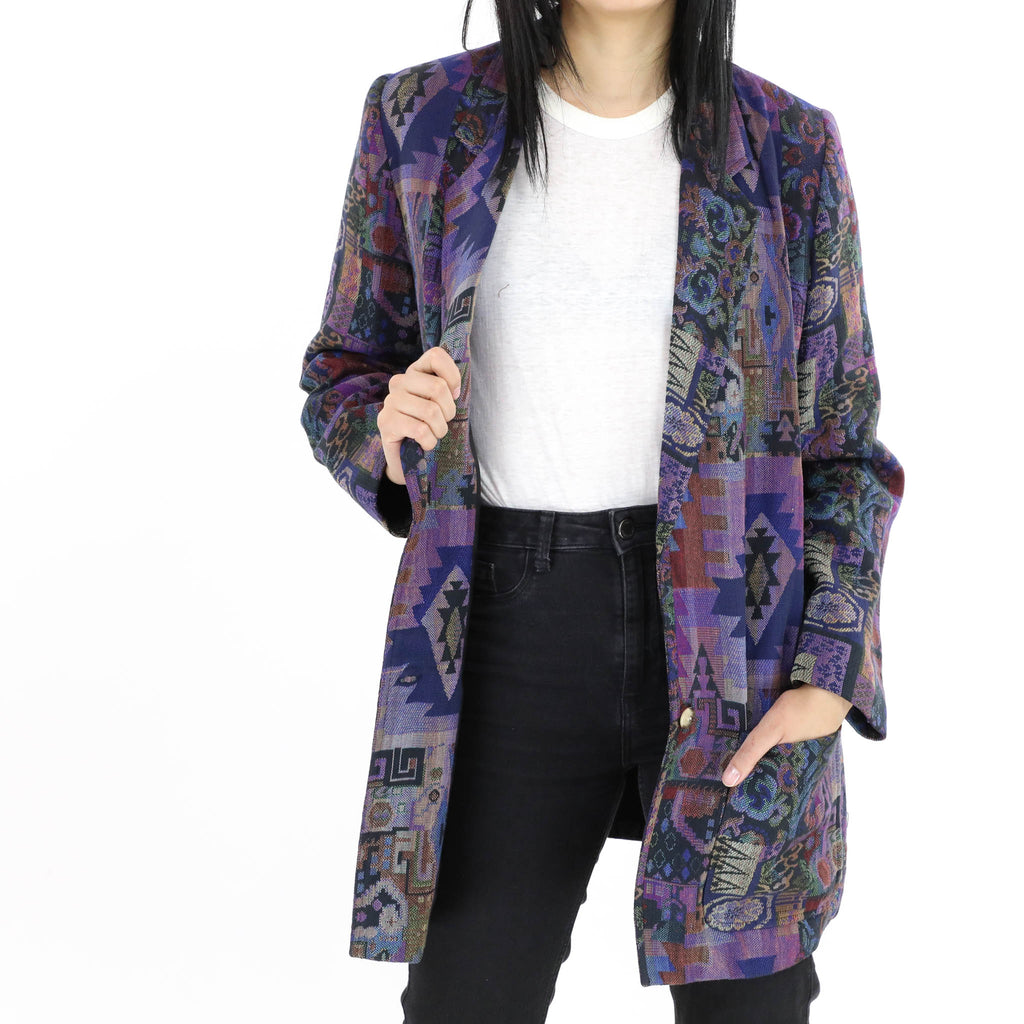 Multi Color Southwestern Oversized Blazer