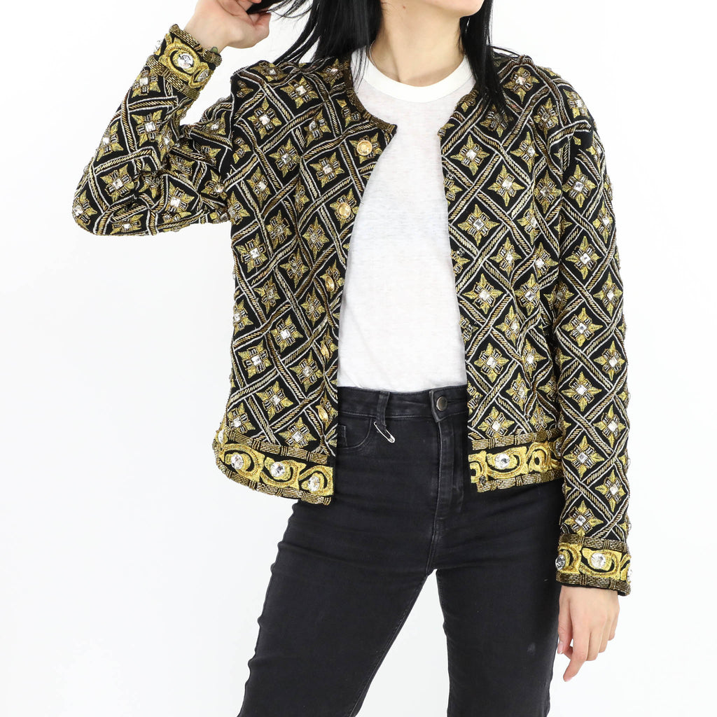 Golden Flowers Sequin Jacket