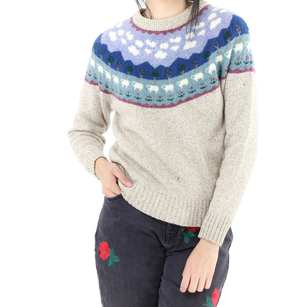 Sheep Landscape Sweater