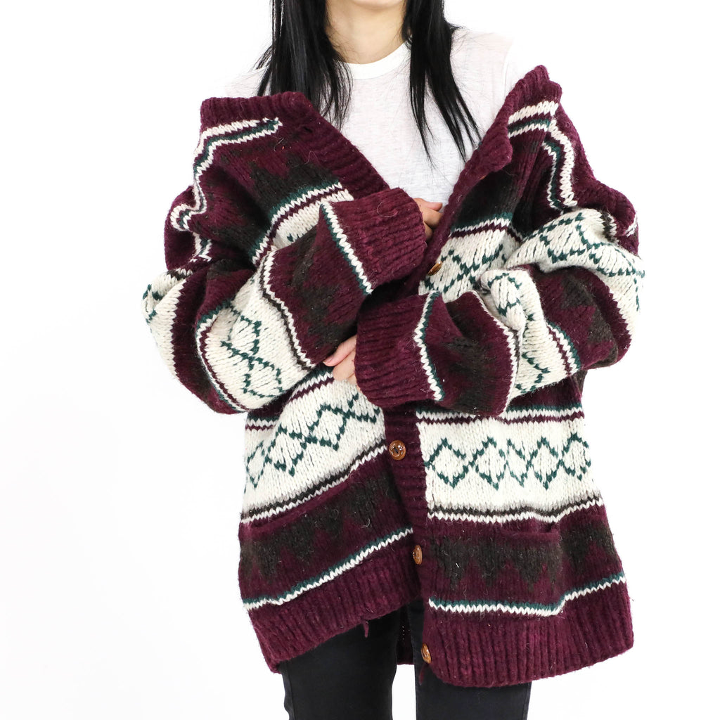 Grape&White Diamond Sweater