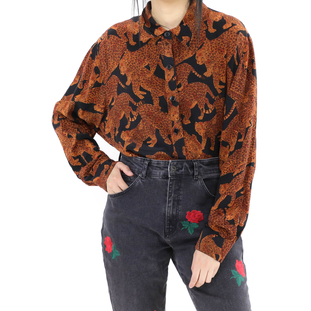Brown Leopards Blouse