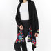 Hand-Knitted Flowers Black Sweater