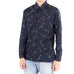 Deep Blue Abstract Print Shirt