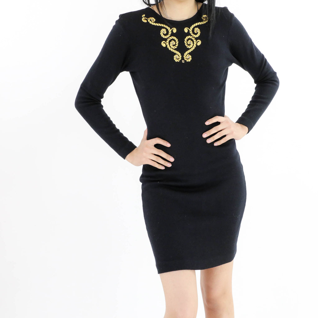 Body Con Embroidered Dress