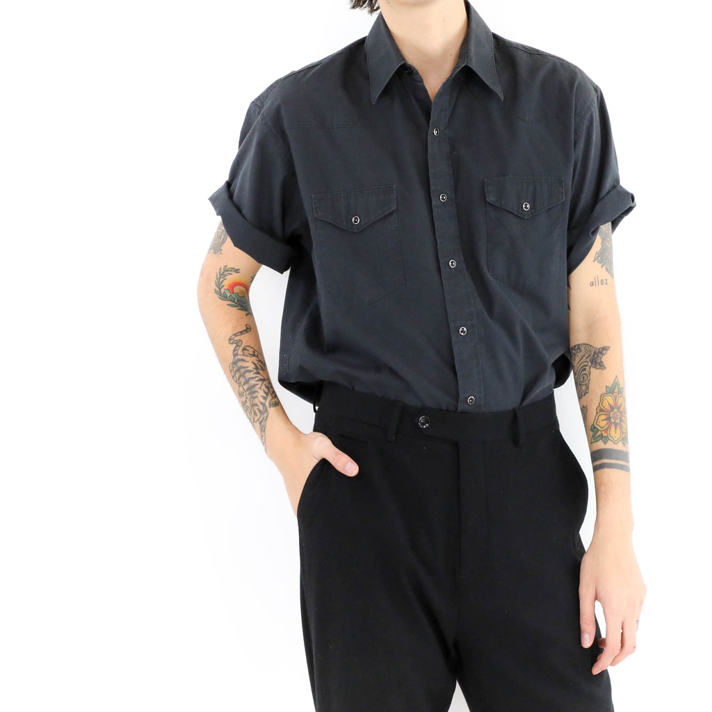 Utility Button Down Muscle Shirt