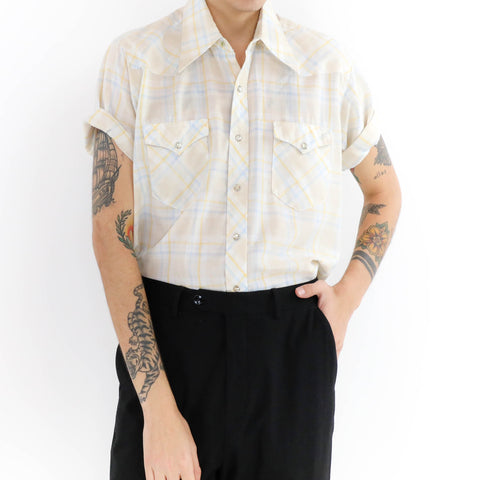 Tattersall Plaid Muscle Shirt