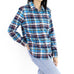 Blue & Red Tartan  Women's Flannel Shirt