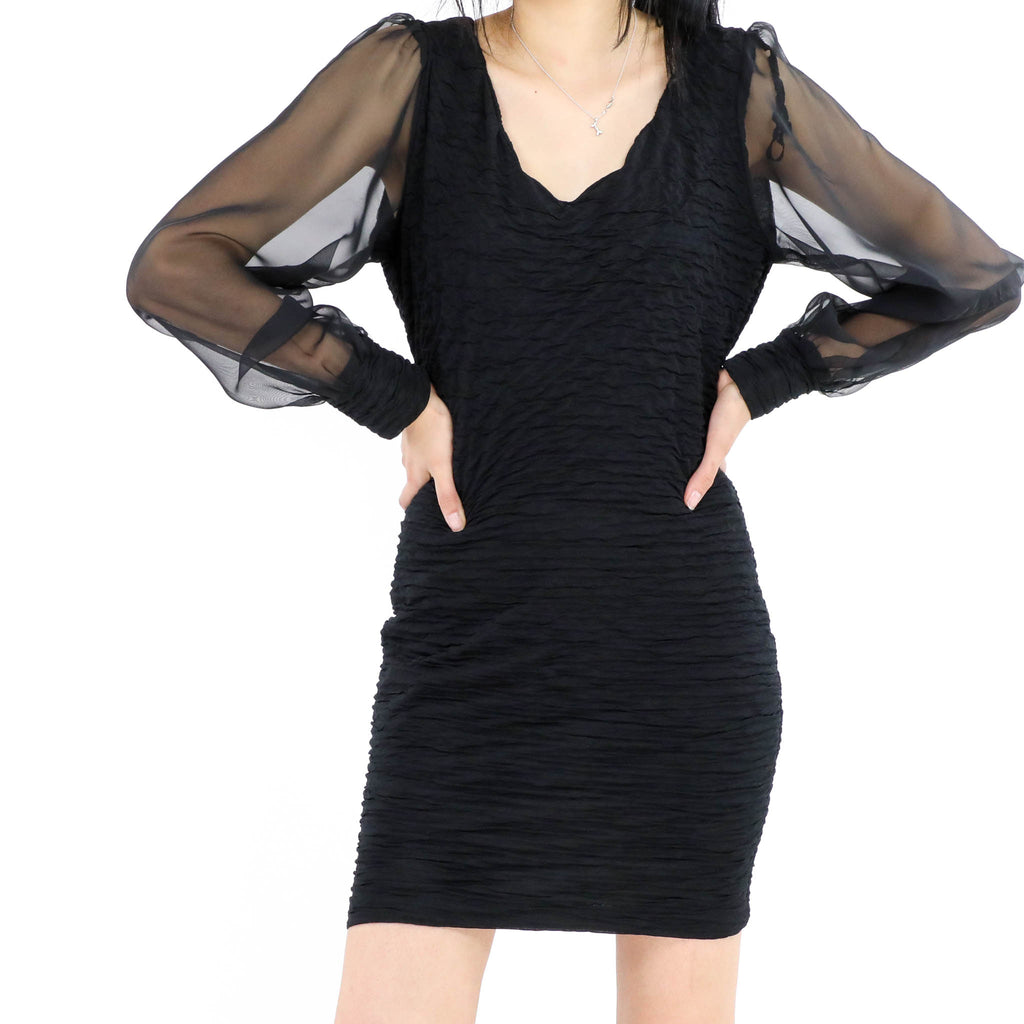 Bishop Sleeve Scoop Dress