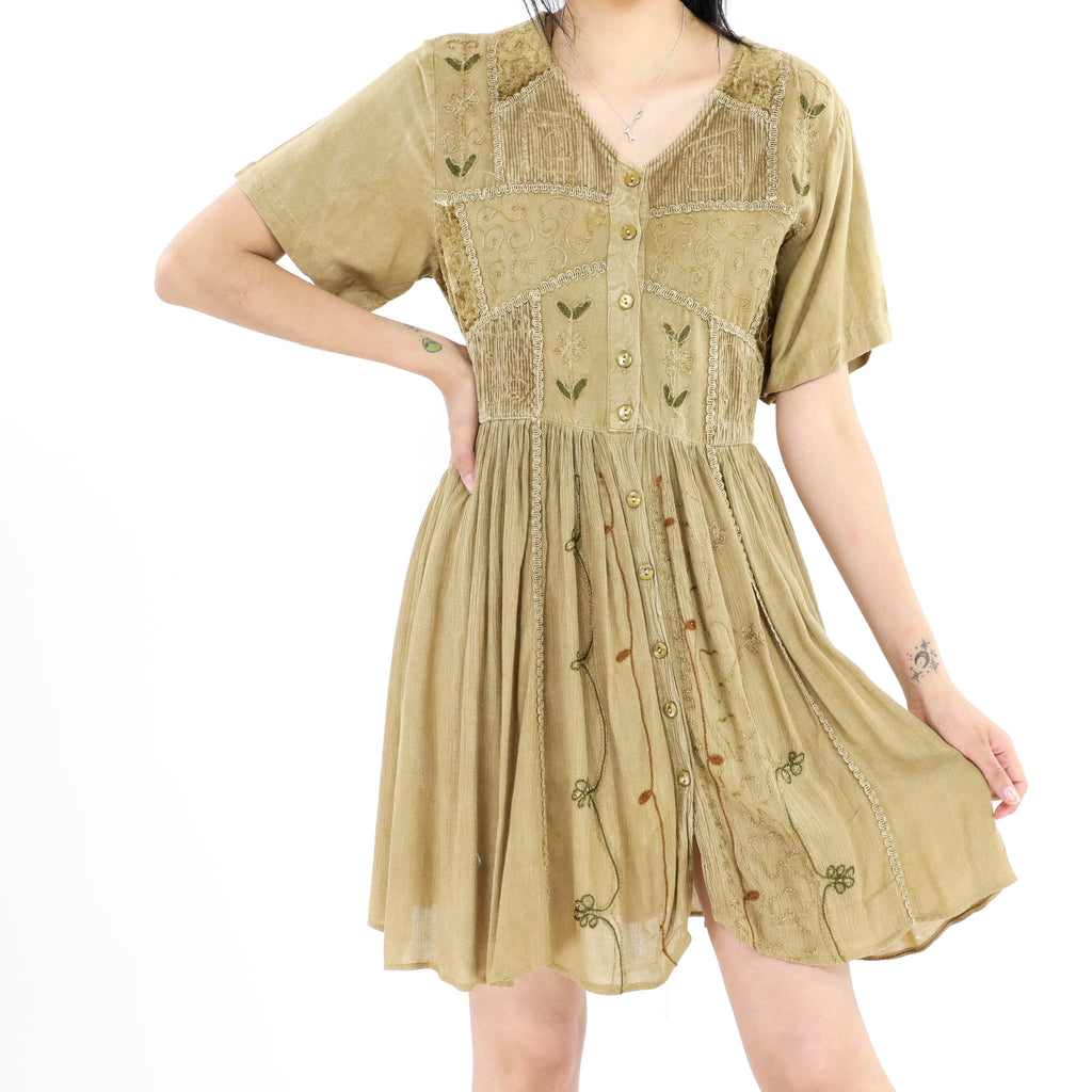 Beaded Shirt Dress
