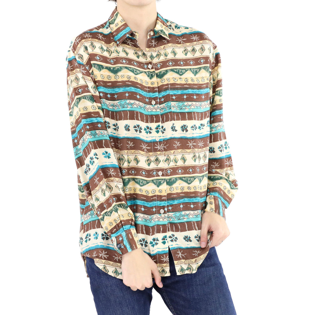 Brown & Green Long Sleeve Shirt