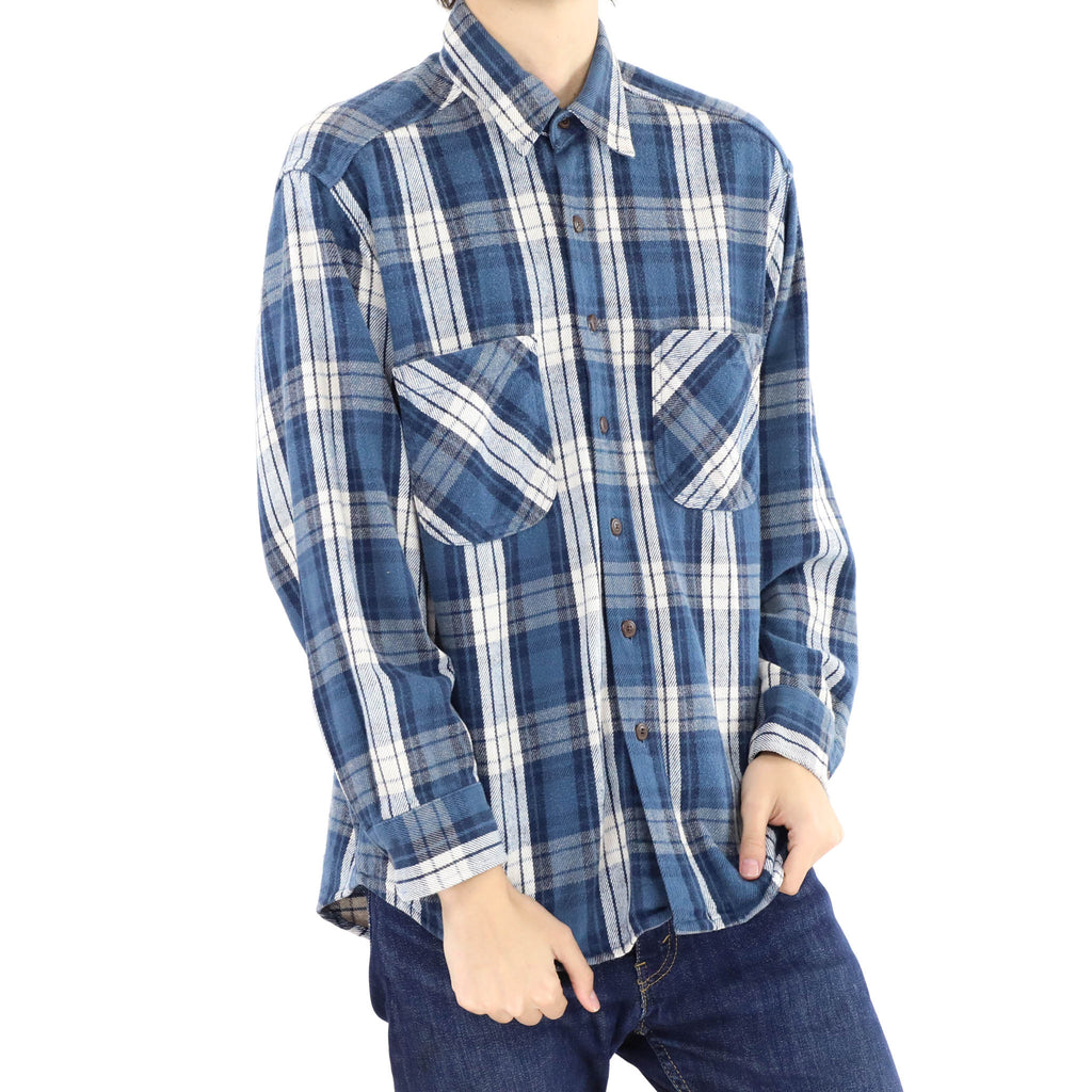 White & Blue Flannel Shirt