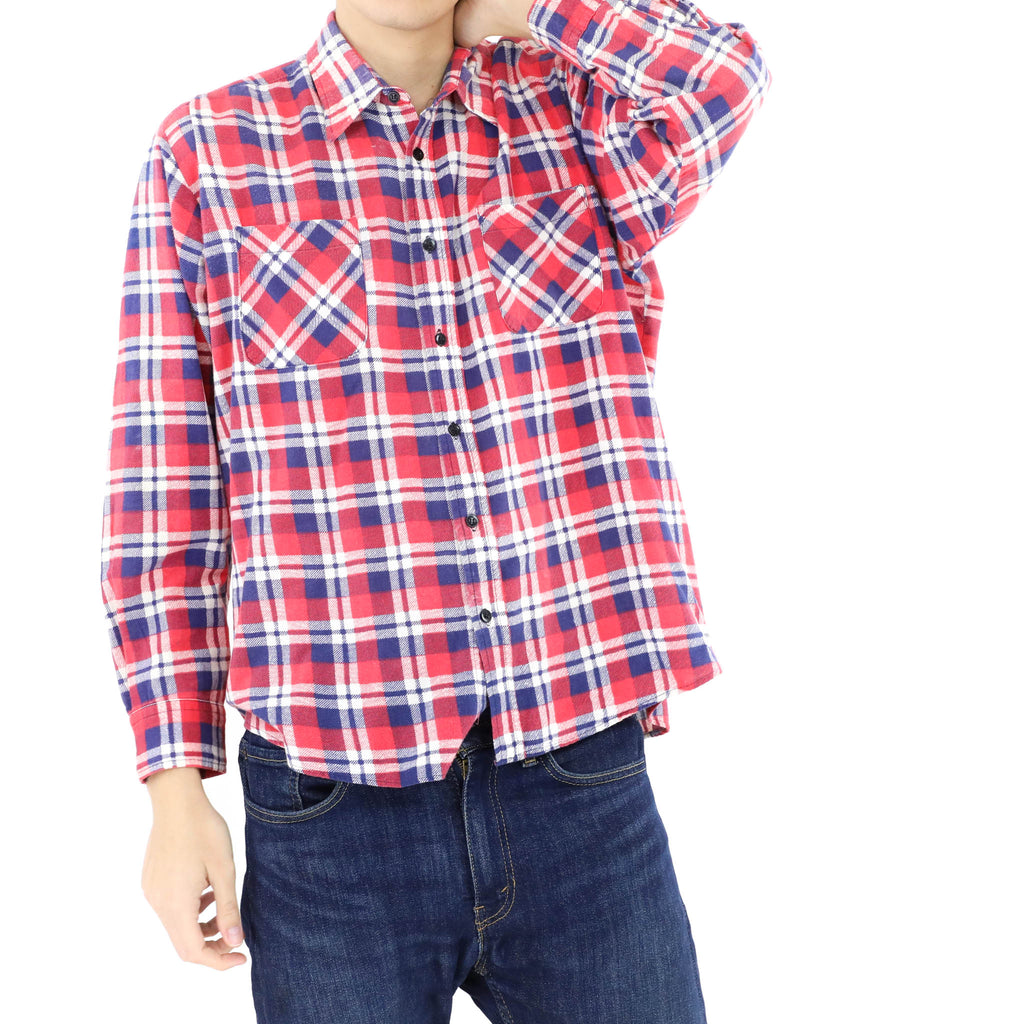 Red White & Blue Flannel Shirt