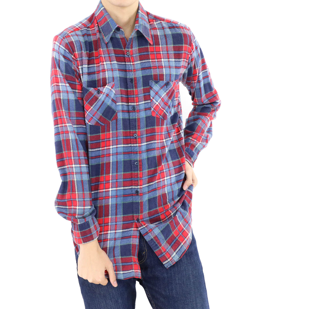 Blue & Red Tartan Shirt