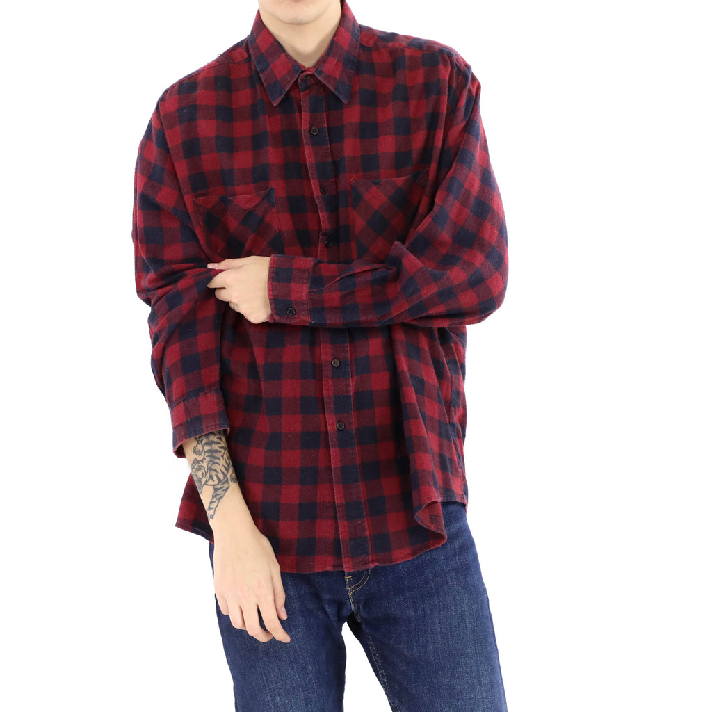 Blue & Red Plaid Shirt