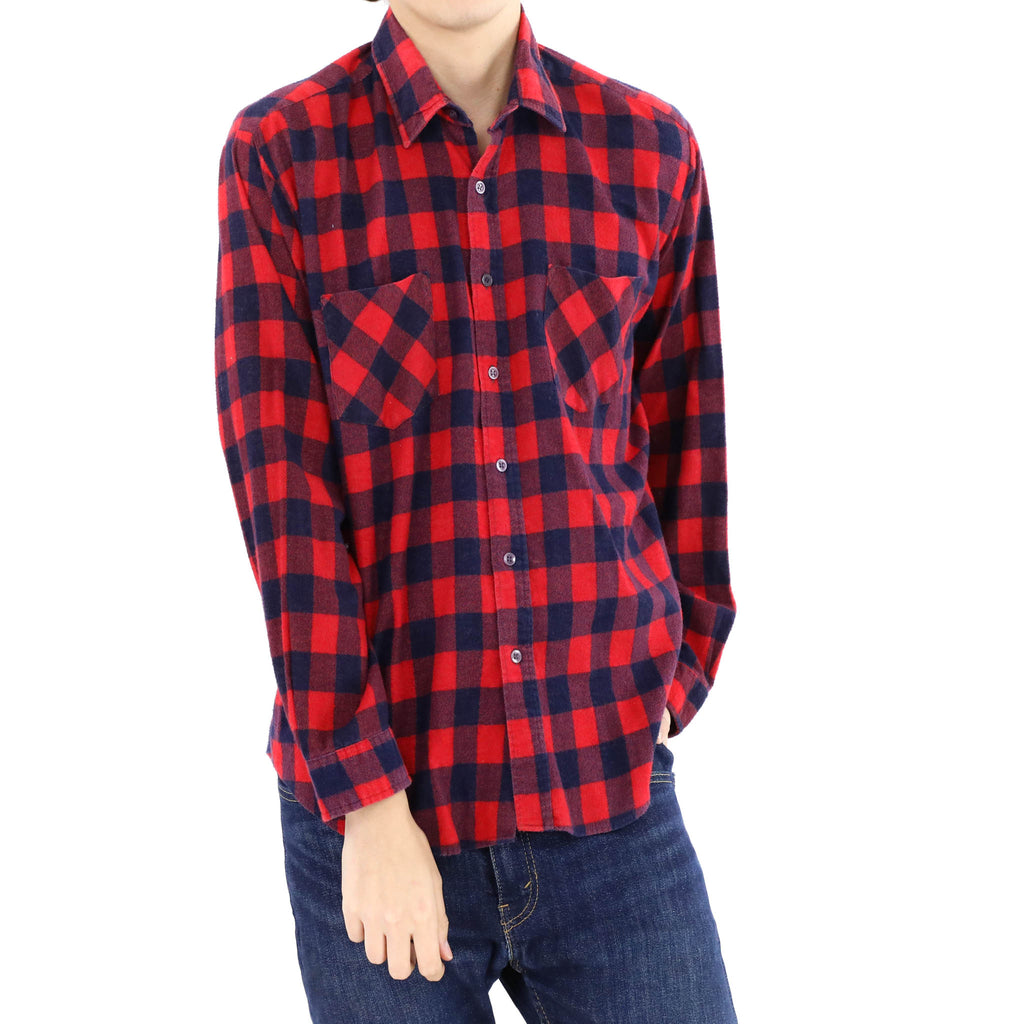 Cranberry & Blue Plaid Shirt