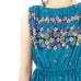 Turquoise Flowered Dress