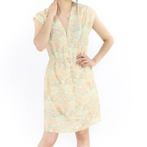New Spring Beige Floral Dress