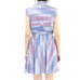 Lavender & Celeste Horizontal Striped Dress