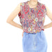 Sleeveless Kaleidoscope Pattern  Blouse