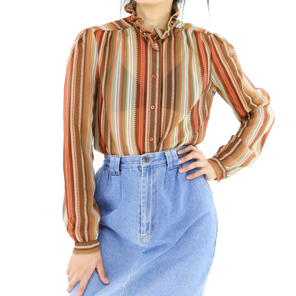 Earth Colored Lines Blouse