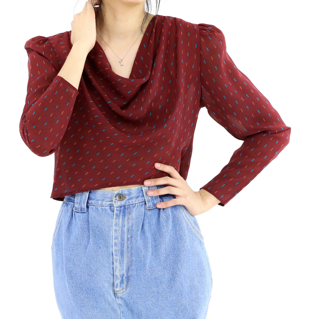 Rosewood Cropped Blouse