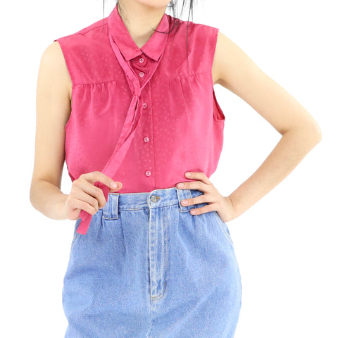 Raspberry Sleeveless Blouse