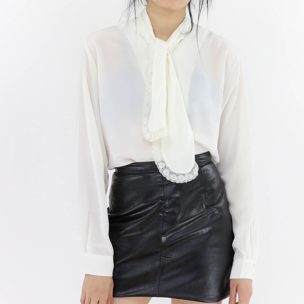 White See Through Tie Blouse