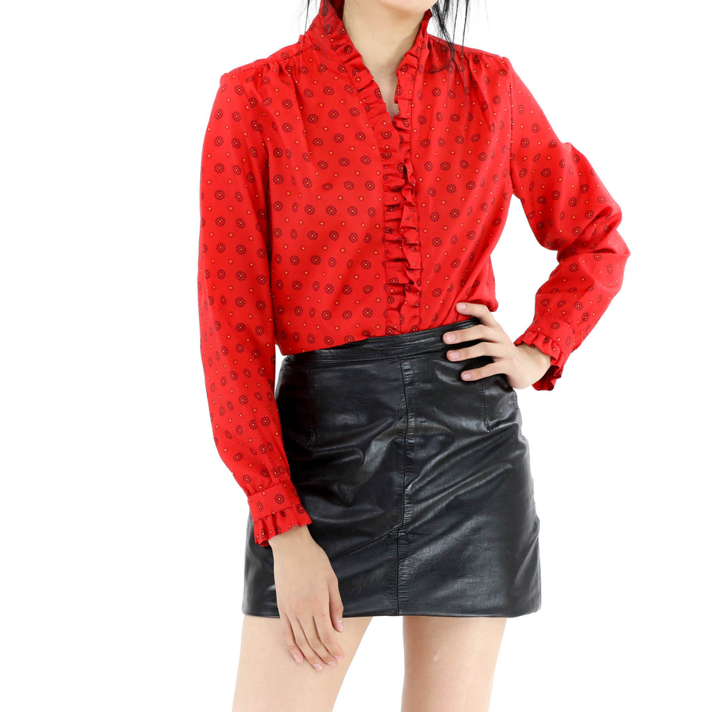 Polka Dot Red Blouse