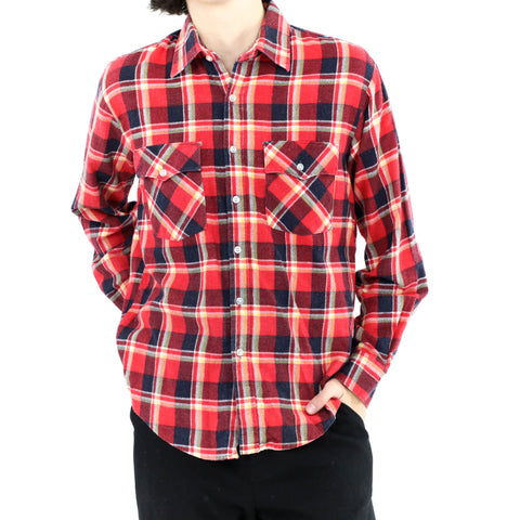 Red & Blue Flannel Shirt