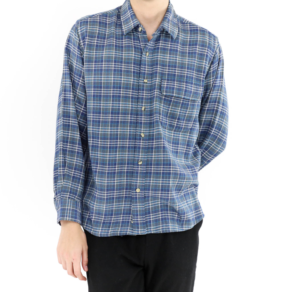 Plaid Blue Flannel Shirt