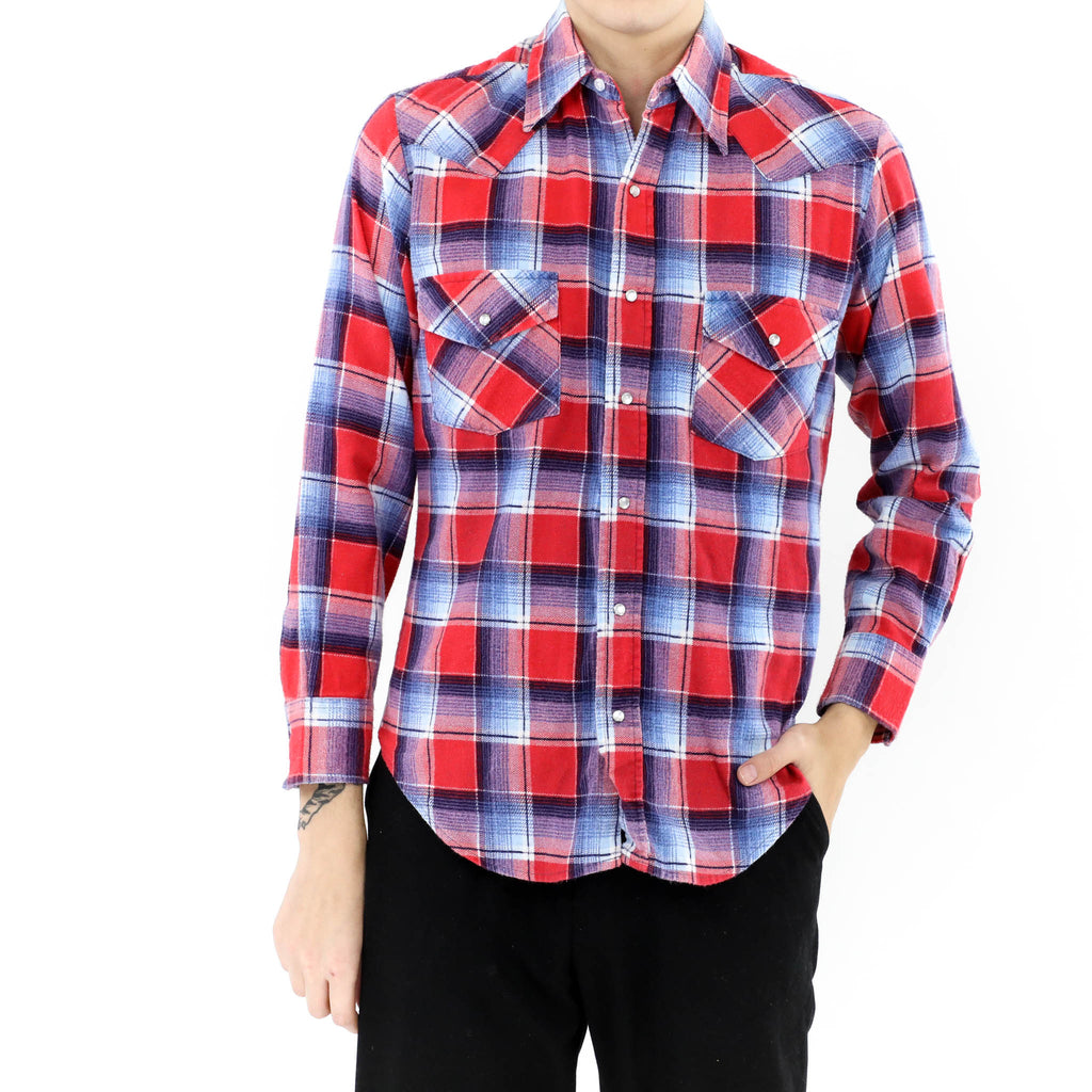 Western Red & Blue Flannel Shirt