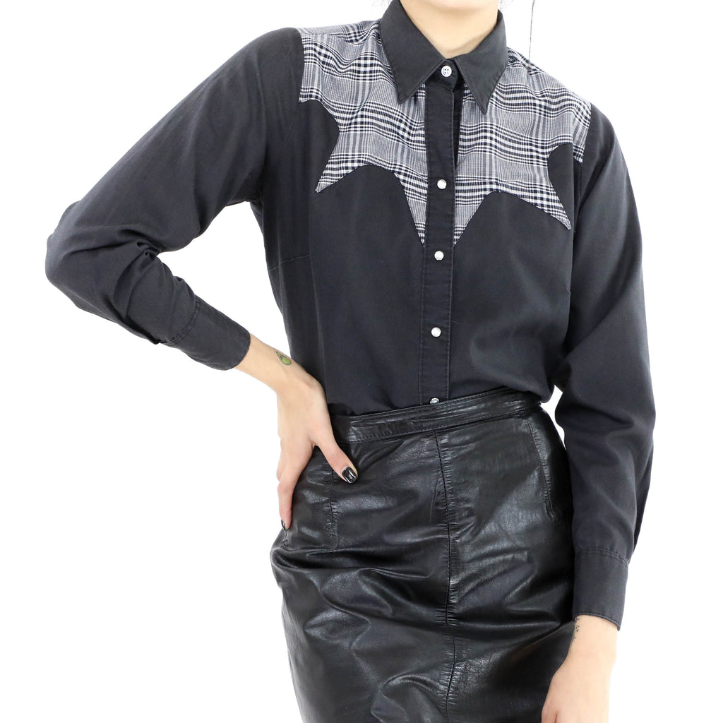 Black Western Blouse