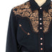 Black & Brown Western Blouse